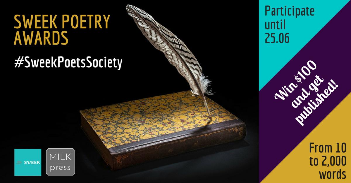 Sweek Poetry Contest: #SweekPoetsSociety